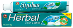 Зубная паста «Twin Lotus Herbal Plus Salt» — Плюс Соль 90 гр